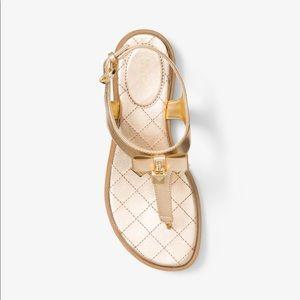 Michael Kors Alice Metallic Leather Sandals